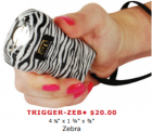 ZEBRA RECHARGEABLE 18 MILLION VOLT TRIGGER STUN GUN